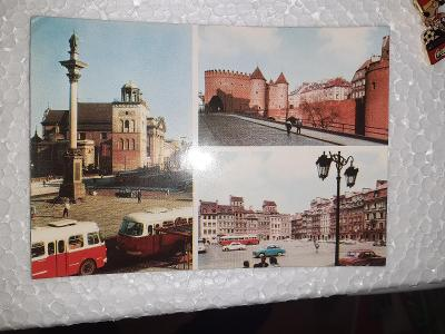 Pohlednice z roku 1971 Varšava,  prošlé poštou.