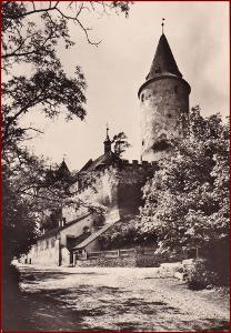 Křivoklát * hrad, opevnění, věž, podhradí * Rakovník * V120