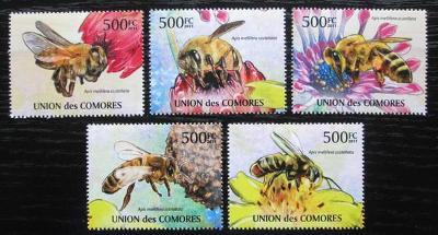 Komory 2011 Africké včely Mi# 2995-99 Kat 12€ 2345