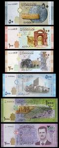 SYRIE SADA 50 + 100 + 200 + 500 + 1000 + 2000 Pounds 2009-2015 UNC