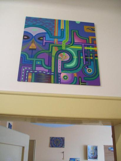 CHEMIČKA, akryl na sololitu, 50 x 50 cm - Umění