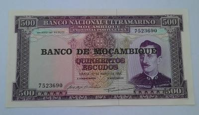 Bankovka Banco de Mocambique 1967 -500