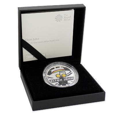 Hudební legendy Music Legends Elton John - stříbrná mince 1 oz proof