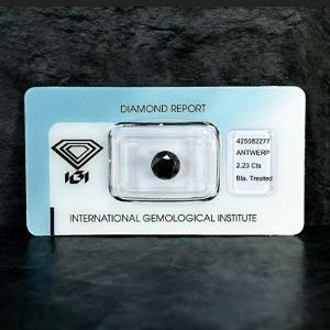 Diamant ( briliant ) 2,33 ct. od 1kč. IGI certifikace