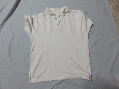 triko dětské bílé s límečkem