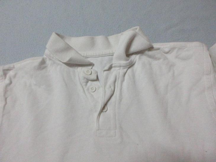 triko dětské bílé s límečkem - Oblečení
