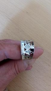 Postříbřený prsten vel 8