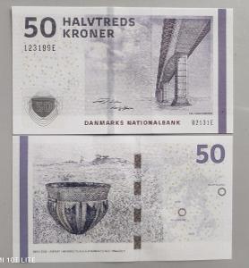 Dánsko 50 korun 2013 P-65 UNC / N Most Sallingsund