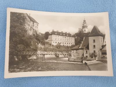 Pohlednice Český Krumlov rok 1952