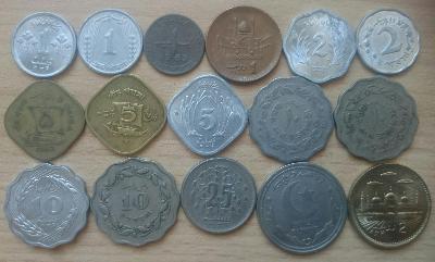 Pákistán 16 mincí z oběhu