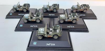 Cararama 1:72, Jeep Willys CJ-2A, assort 6×1 ks, dovoz Abrex