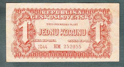 1 korun 1944 serie HM neperforovana