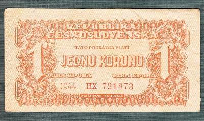 1 korun 1944 serie HX neperforovana