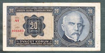20 korun 1926 serie VF NEPERFOROVANA