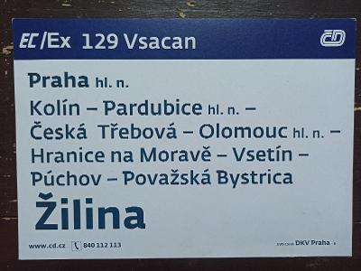 Směrová cedule EC/Ex 129 VSACAN - 122 FATRA