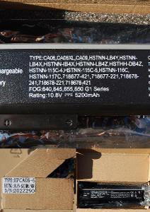 Nová baterie pro HP Probook 640, 645, 650, 655 10,8V 5200mAh