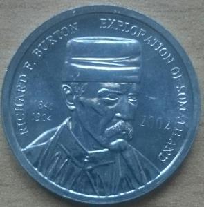 Somaliland 5 Shillings 2002 Burton