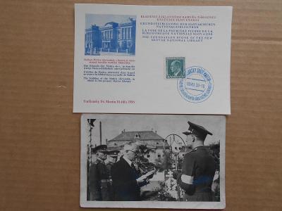 SLOVENSKO / ZNÁMKY - RAZÍTKA / 2X  BRATISLAVA1938, T.S. MARTIN 1933