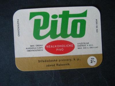 Pivní etiketa Pito nepoužitá