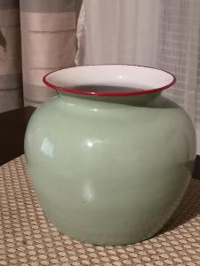 krasna smaltovana vaza-TOP STAV