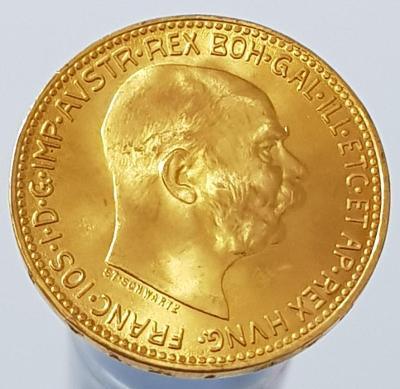 Zlatá Rakouská 20 Koruna 1915 - František Josef I. ražební lesk 0/0 !
