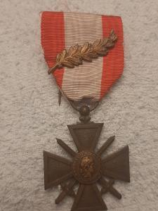 Francie - Válečný kříž 1914-18 TOE, citace PALMA