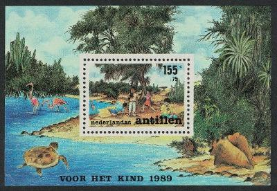 Nizozemské Antily 1989 Hrající si děti Mi# Block 34 0087