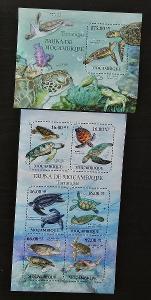 Mozambik 2011 Mi.4847-2+Bl.495 22€ Fauna Mozambiku - želvy