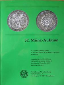 362 - Grün H.: 52. Munz Auktion, Heidelberg 2009, 1462 g