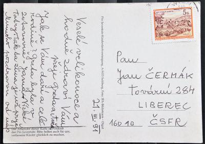 Rakousko - pohlednice