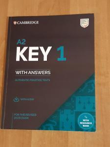 KEY Cambridge Exams A2 2020 sada 4 kompletních testů , poslechy + klíč