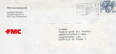Dopisní obálka z NSR do Čech
