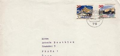 Dopisní obálka z NSR do Čech rok 1966