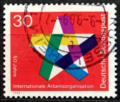 BUNDESPOST: MiNr.582 Five-Pointed Star 30pf 1969