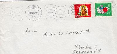 Dopisní obálka z NSR do Čech rok 1969