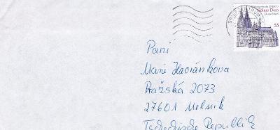 Dopisní obálka z NSR do Čech rok 1970 ?