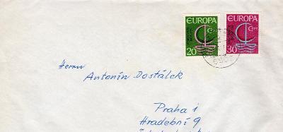 Dopisní obálka z NSR do Čech rok 1969 ?