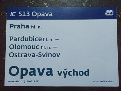 Směrová cedule IC 513/514 OPAVA