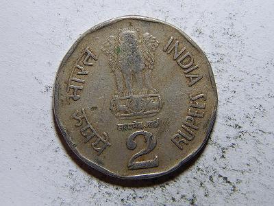 Indie 2 Rupees 1994 diamant F č33366