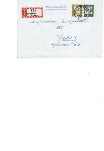 Dopisní obálka z NSR do Čech rok 1967