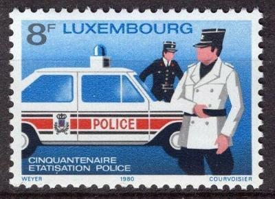 Lucembursko 1980 Policie Mi# 1017 0092