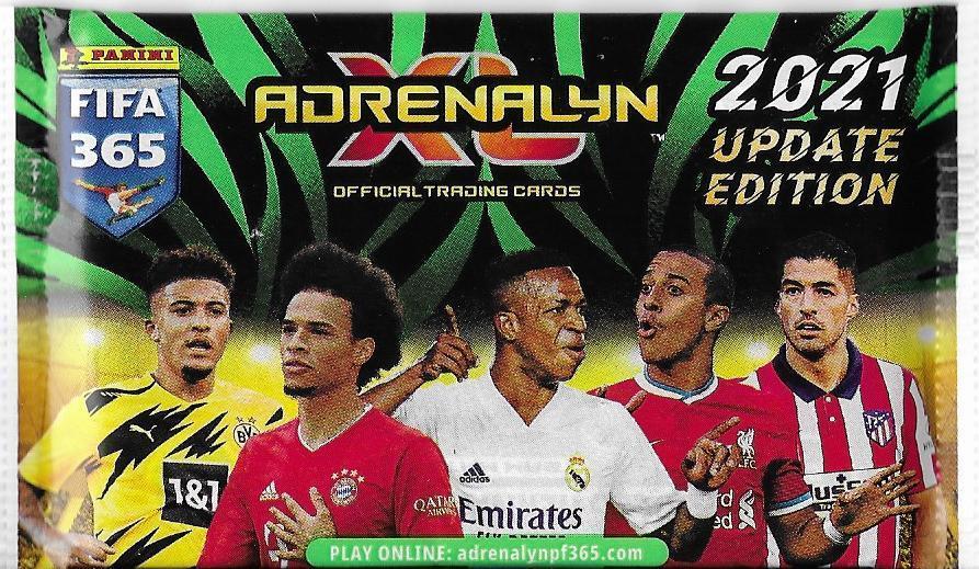 Fotbalové kartičky FIFA 365 2021 UPDATE Adrenalyn XL  : Nové balíčky ! - Sportovní sbírky