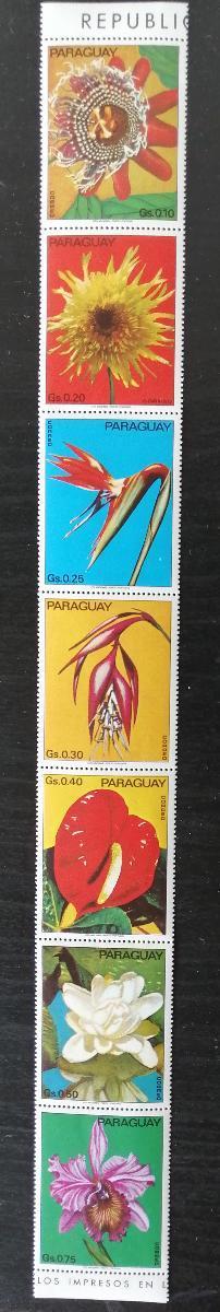 Paraguay 1973 Mi.2525-1 9€ Květiny Jižní Ameriky, flóra v pásce