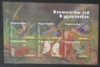 Uganda 2002 Mi.2476-1 10€ Hmyz a motýli Ugandy a Afriky