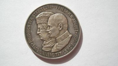 Sasko 2 marka 1909 E Univerzita Lipsko