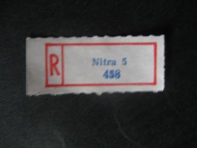 ČSSR II R nálepka Nitra 5