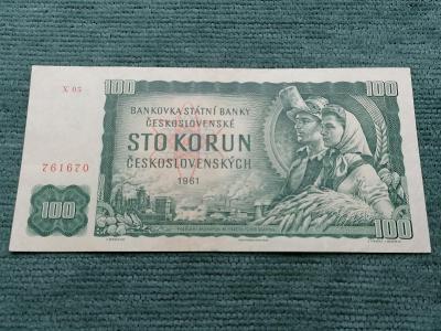 100 Kčs 1961, série X 05, stav 2