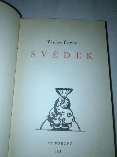 Svědek - Řezáč Václav - Knihy