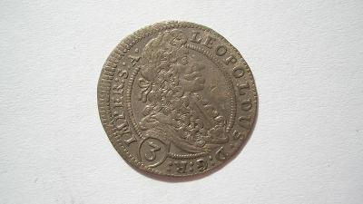 Leopold I. 3 krejcar 1704 GE - Praha