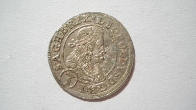 Leopold I. 3 krejcar 1670 Štyrský Hradec